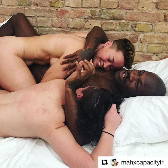 #Repost @mahxcapacityirl ・・・ Plus, getting to shoot mega talented babes @jizlee, @ginnywoolfx, and @biszhopblaczk was beyond beyond beyond. Working with @lovvr is always a dream, and can't wait to premiere this scene with @aortafilmswillneverdie! Feeling so full from this amazing week at @pffberlin! . . . #queerporn #indieporn #altporn #payforyourporn #queer #threesome #nonbinary #jizlee #bishopblack #ginnywoolf