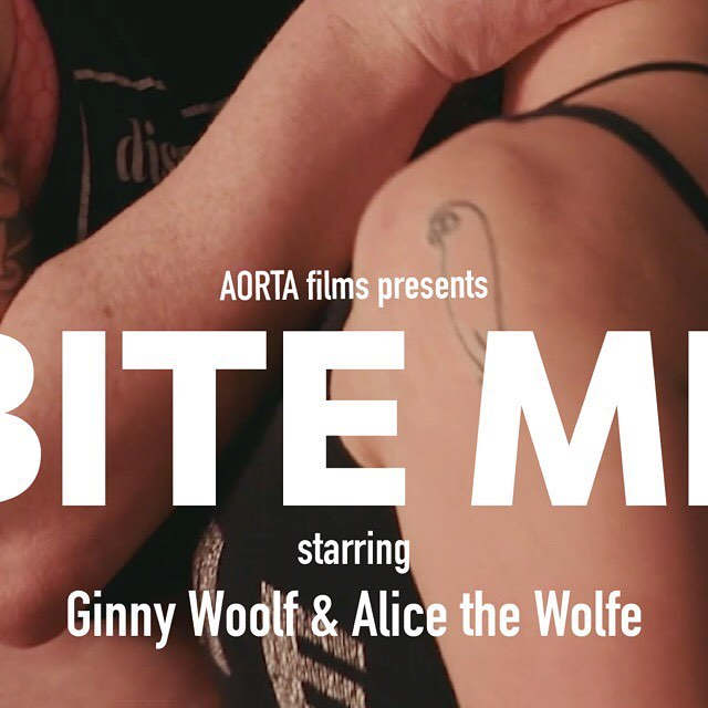 "Get the full 📷 on our profile! ... Introducing AORTA's December film ""Bite Me"" starring @ginnywoolfx and @grandma_wolfe. Trailer drops tomorrow! Shot by @patrickisphotographer, directed by @call_me_partsauthority, edited by The Soft Gaze, with score by Paleo Pony aka @rhythmbeard. ... Alice the Wolfe and Ginny Woolf knew of each other, but they didn't, like, know know…get ready to watch these thirsty wolves finally meet in the flesh. This frenzy of greedy desire is quick, it's dirty, and it's gonna leave you wanting MORE. But we know you won't be able to tear yourself away, because we're willing to bet you want these trashy babes almost as bad as they want each other. . . . #queerporn #altporn #indieporn #ethicalporn #feministporn #trans #nonbinary #transdyke #enby #genderqueer #femme4femme #trashfemme"
