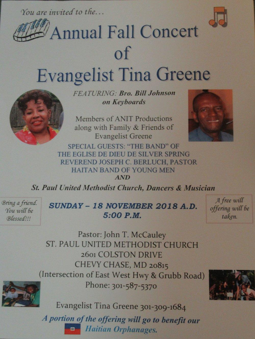 Fall Concert of T. Greene @ St. Paul Nov. 18, 2018 (1).JPG