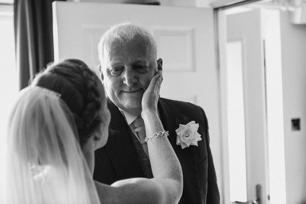 Father of the bride getting emotional