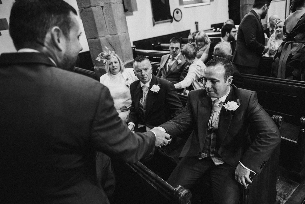 Nervous groom