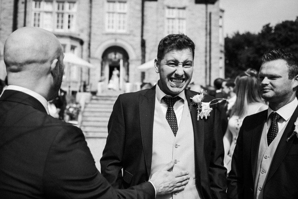 groom waintg nervously