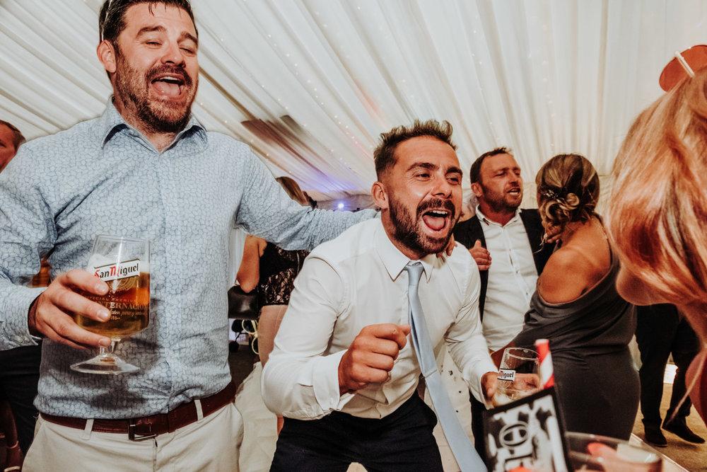 Yorkshire wedding guests dancing
