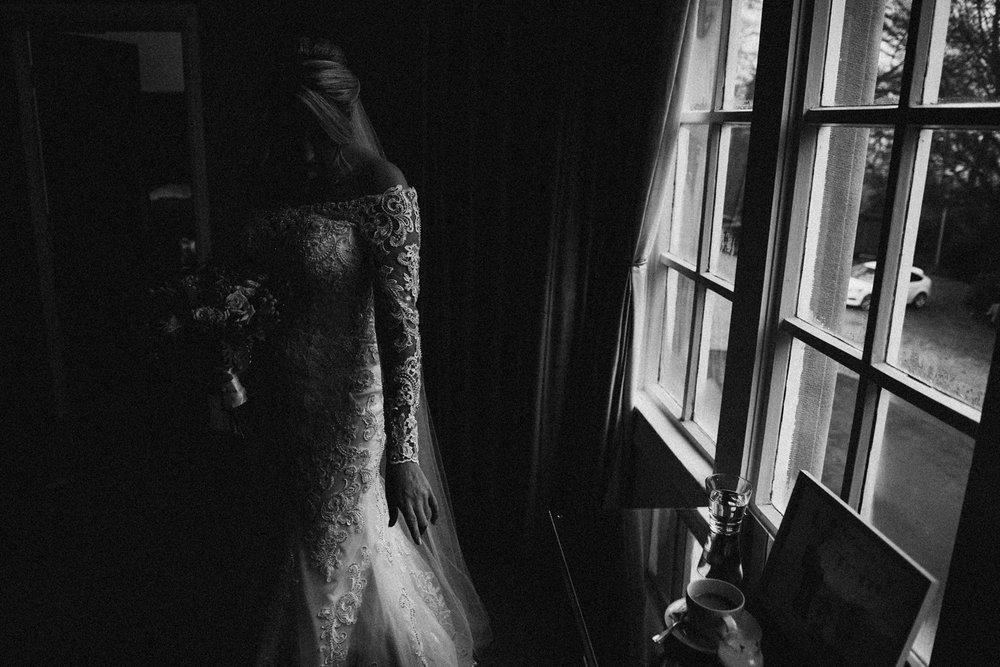 bride in the window