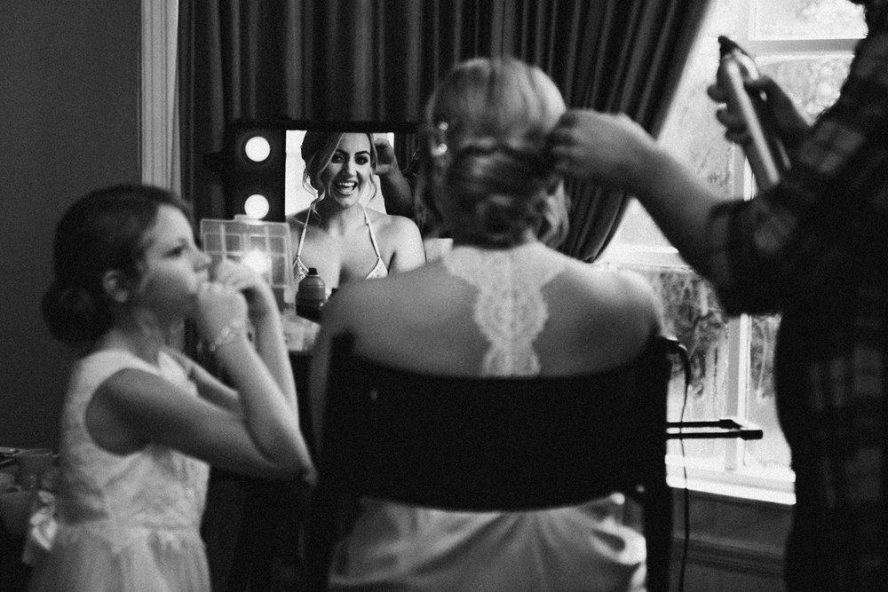 Bride Ashleigh laughing