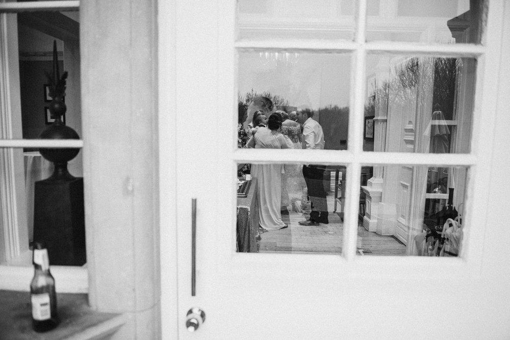 natural wedding photograph of guests