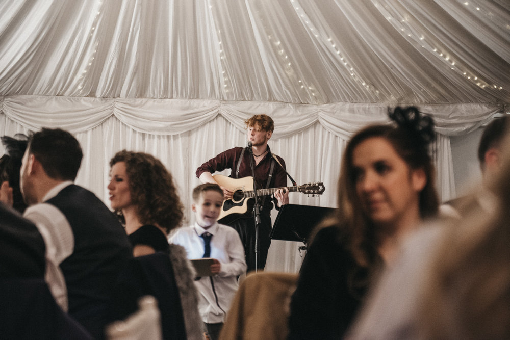 Wedding band entertaining guests