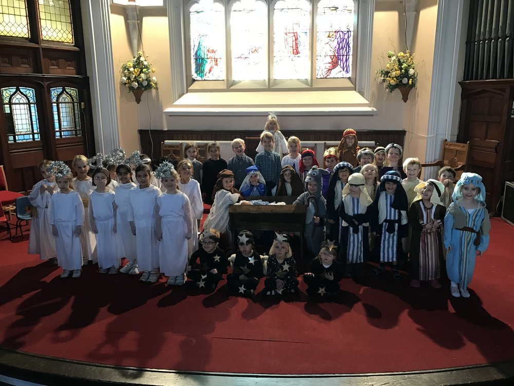 Buckholme Towers School nativity group photo