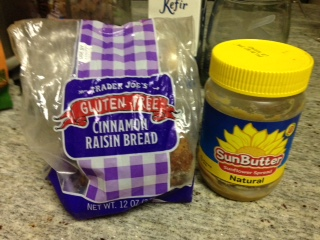 Don't forget your nut-free option:  Sunflower butter sandwiches on raisin bread in place of jam.  Kids love them!