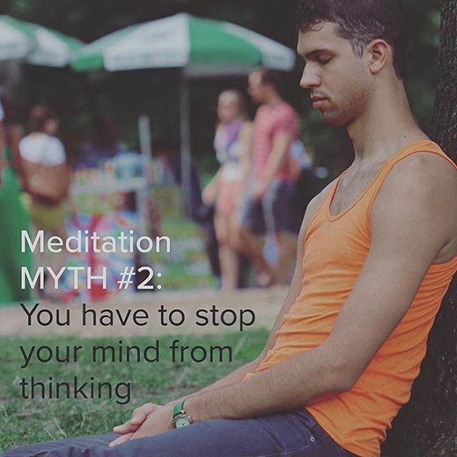 myth #2  #transcendwhereyouare  #meditationmyths  By @huntercressman @themodernmind  MYTH #2: YOU HAVE TO STOP YOUR MIND FROM THINKING Thankfully, thoughts are a part of the Vedic meditation process. Thinking is completely natural and one of several legitimate outcomes of correct practice. If this weren't true, there's no way I'd still be meditating today.  Did you know, the average person has anywhere between 50,000-70,000 thoughts per day? Our minds are designed to think, just as our hearts are designed to beat.  A flood of thoughts will arise during Vedic meditation after the body has purified itself of some stress. We welcome the release of stress so that we no longer hold onto it. The clarity, creativity, energy and happiness that comes from meditating is experienced after stress has released from the body.  #meditation #vedicmeditation #vm #tm #meditateeverydamnday #meditateeveryday #meditatedaily #meditate #meditatedaily #yogaeverydamnday #yoga #mind #thoughts #transcend #transcendence #wellness