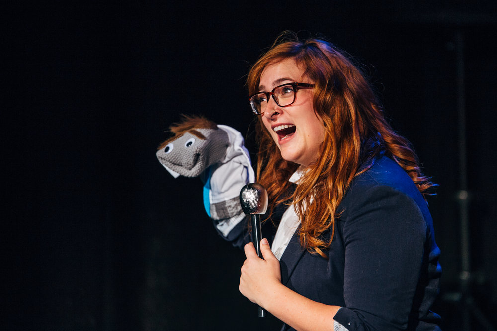 "Cassie Rosenbrock in ""Ted Cruz Sock Puppet"" from 2016's The Political Show"