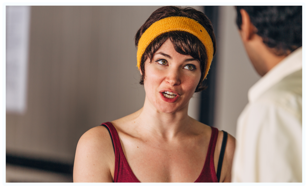 Nicole rehearsing for KML: Under Pressure. Photo by James Jordan Pictures.
