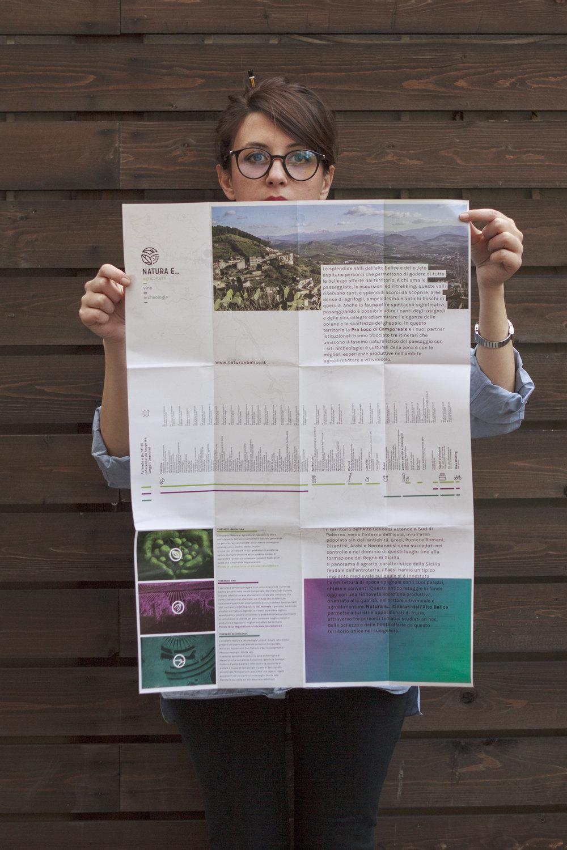Progetto selezionato    Il progetto   Natura e... Itinerari dell'Alto Belice è un progetto complessivo di promozione, comunicazione e fruizione di percorsi naturalistici, culturali e enogastronomici del territorio dell'Alto Belice e della valle dello Jato.OddAgency e Alexandra Dossi, dopo aver creato e disegnato il logo e l'immagine coordinata del progetto hanno realizzato il sito web, la app, la mappa cartacea e la segnaletica orizzontale legati agli itinerari. Il sito e la app comprendono le mappe interattive dei percorsi e un sistema di riconoscimento delle specie vegetali oltre che le schede dei punti di interesse, delle aziende e delle piante del territorio.Tutti contenuti e le illustrazioni presenti sui diversi supporti, compreso l'intero sistema di icone realizzate per identificare i punti d'interesse per tipologia, sono prodotti originali dell'agenzia. Al centro del progetto è stata posta la user-experience, con prodotti pensati per essere facilmente fruiti anche da cicloturisti, trekkers e automobilisti. Tramite la app è inoltre possibile geo-localizzarsi all'interno degli itinerari e visualizzare le stazioni di bike-sharing e gli info-point più vicini. Grazie a degli appositi supporti montati sul manubrio delle biciclette del bike-sharing la app è fruibile anche in movimento.   www.naturaebelice.it   www.oddagency.it