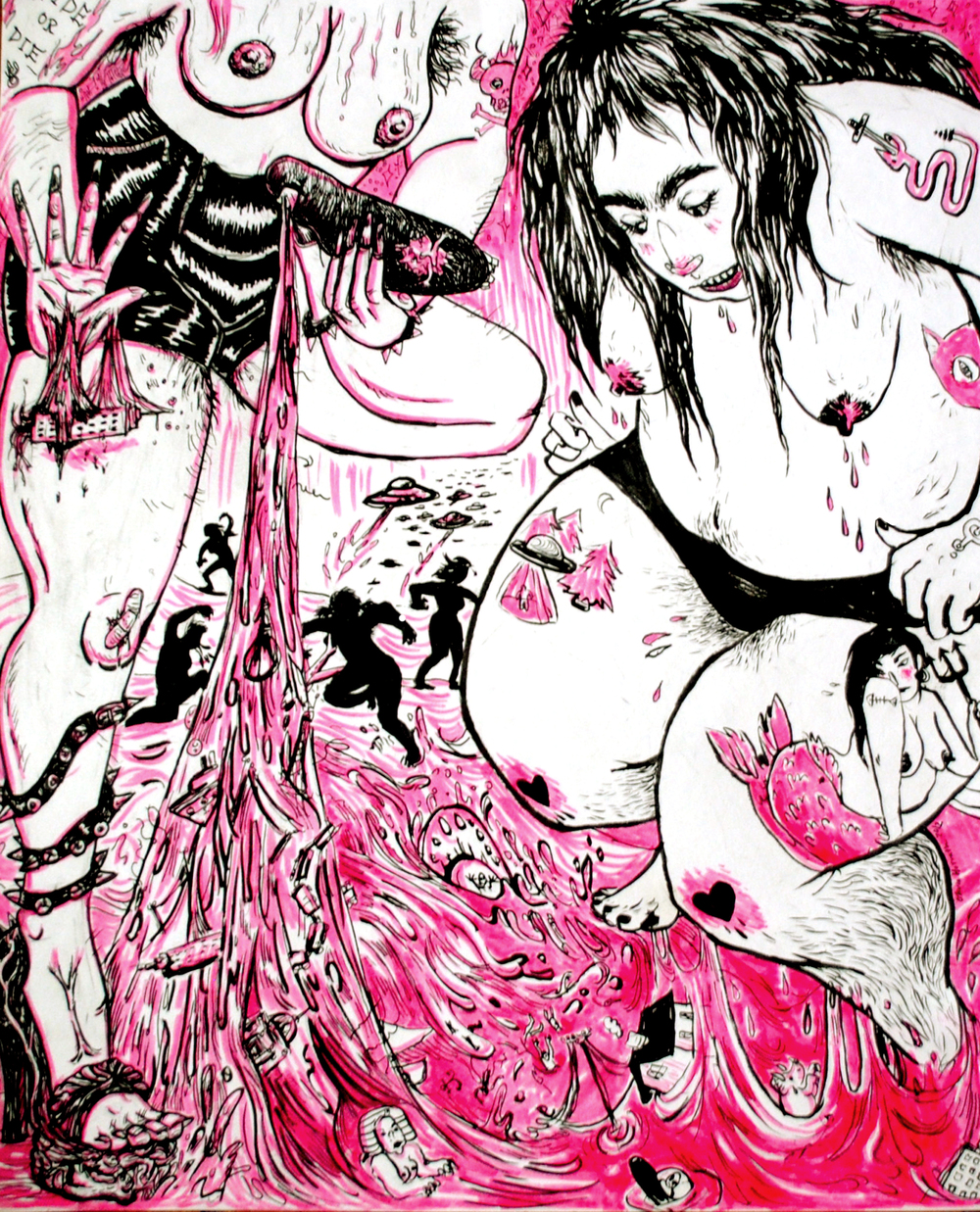 SMUSH (2012) with Meg Powers for SKULL VOMIT ZINE