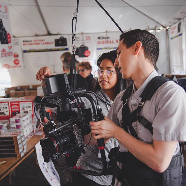 First day using the atlas rig! Shooting b-roll for the warehouse clearance tent sale at Mike's Camera - Sacramento.  Event is all weekend if anyone is looking to score some deals! 📸: @chrisbogard_ - - - - - #visitsacramento #sacramento #sacramentoproud #mymikescamera #behindthescenes #onset #onsetlife #createcommune #smallhd #camerarig #sonyalpha #filmmaking #videoproduction #justgoshoot #onlocation #makingof @mymikescamera