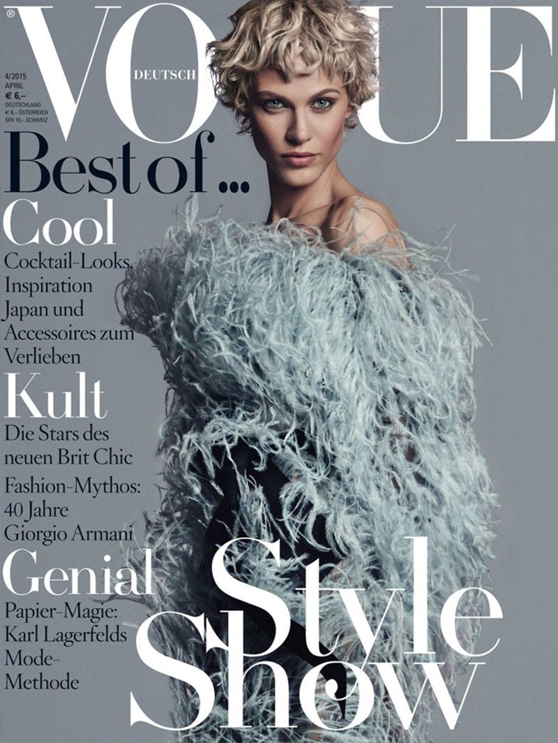 Turner & Tatler jewelry was featured in the April 2015 issue of Vogue Germany.