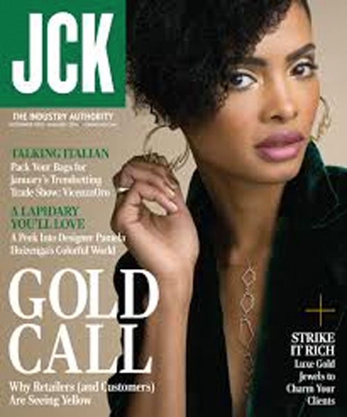 Turner & Tatler jewelry was featured in the December 2015 issue of JCK magazine.
