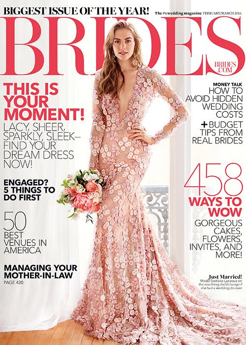 Turner & Tatler jewelry was featured in the February/March 2016 issue of Brides Magazine.
