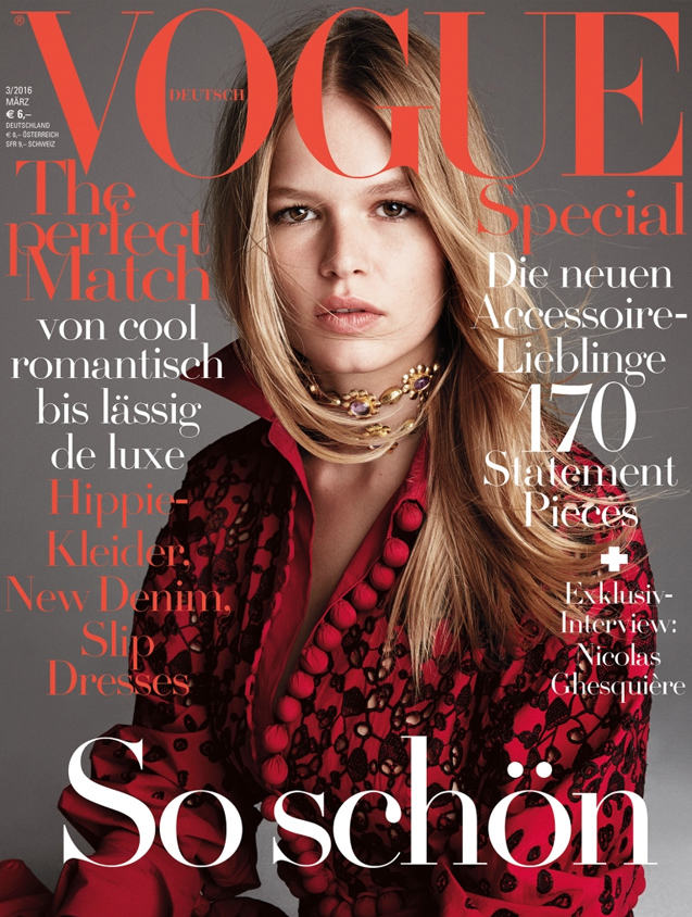 Turner & Tatler jewelry was featured in the March 2016 issue of Deutsch Vogue.