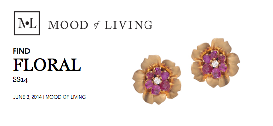 In June, 2014, Turner & Tatler's floral earrings were featured on Mood of Living, an online lifestyle magazine. The earrings were featured in a collection of floral items.