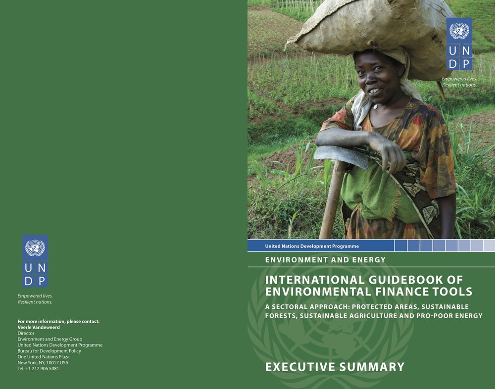 Researched and written by EFCWest, The  International Guidebook of Environmental Finance Tools  provides guidance to countries in developing and implementing the most commonly used, widely applicable, and potentially high-impact environmental finance tools. It does not offer a comprehensive list of all the environmental finance tools available to developing countries. Rather, it aims to define and analyze the primary tools that are already in use and that can be applied globally to advance protected areas, pro-poor energy, sustainable agriculture and sustainable forestry.   Download the Workshop Report below.