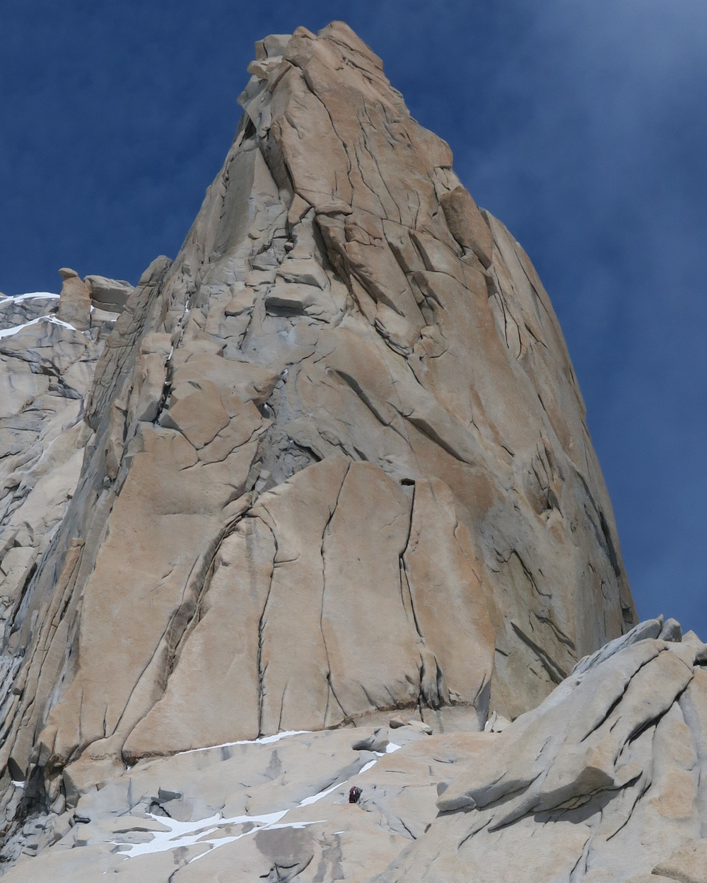 Spot the leader on the North Ridge of Guillaumet! (photo credit: Liz Sloss)