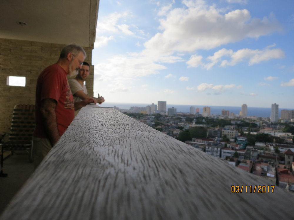 Dad and Dave overlooking Havana  Photo Credit: TR
