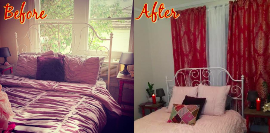 So While I Donu0027t Have Much To Show For It, I Do Have This One Before And  After Photo Of The Bed Area!
