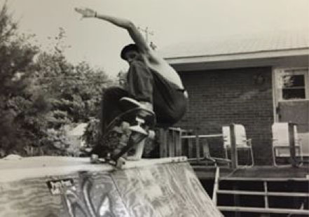 Terry skating in 1988