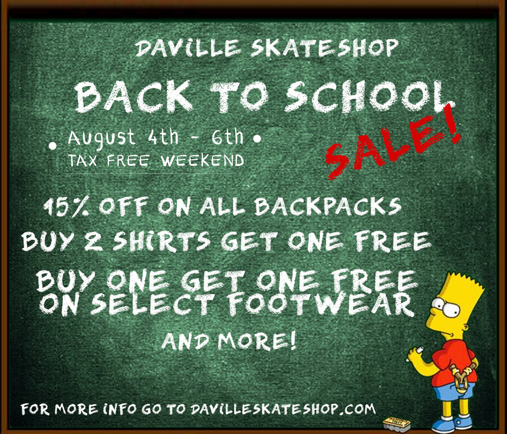 Tax Free Weekend/Back to School sale going on this weekend (8/4/17-8/6/17) at both of our locations! Stop by for some sweet deals on your back to school gear!   **Some exclusions may apply to certain products**