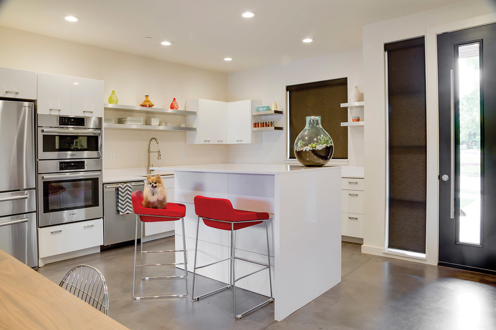 Loft Contemporary Kitchen Cabinets: White