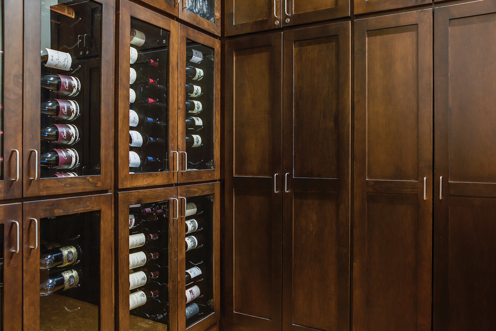 STELLA RESTAURANT: WINE STORAGE CABINETRY
