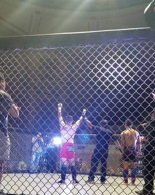 Laird Anderson wins by TKO in 1 minute 26 seconds