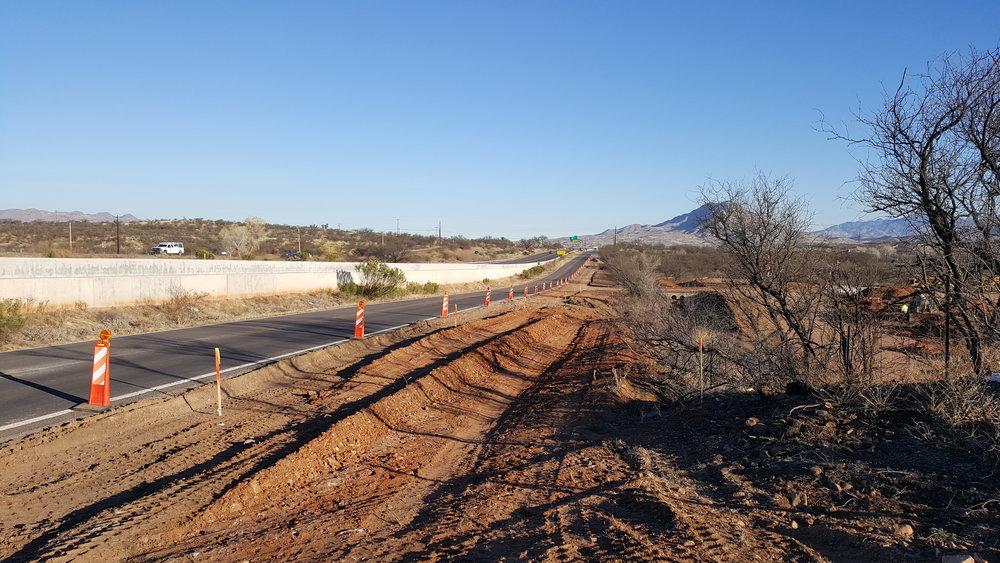 I19 Frontage Road Left Turn Lane Construction