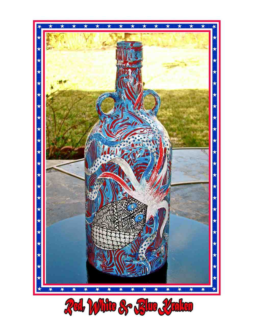 Red, White, & Blue Kraken