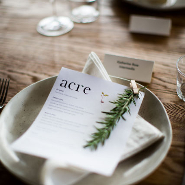 We love a good bespoke menu. Are you looking for the perfect venue to represent what your brand is all about? Want to partner with a team that's very flexible and will go the to extra mile to create a unique experience (without increasing their foodmiles!)- then head over to acreeatery.com.au/corporate 👈🏼for example, last week we had the pleasure of welcoming Nespresso's panel on The Future of Sustainability at @camperdowncommons with styling from @rainy_sunday_ // Have a look 🌱👆🏼