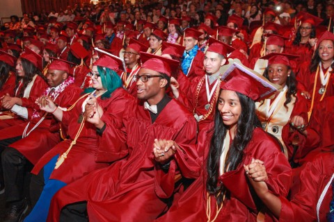 Inaugural graduating class of USC Hybrid High School. June 2016.