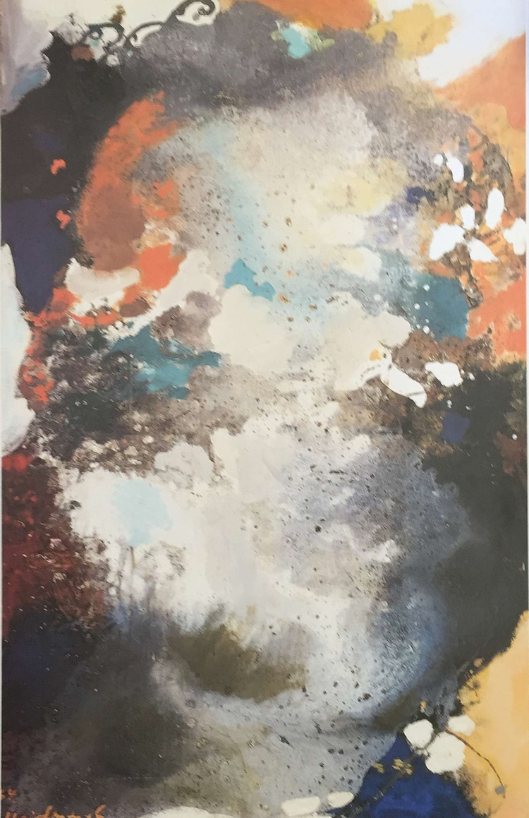Abstraction in Color. 1964. Oil.