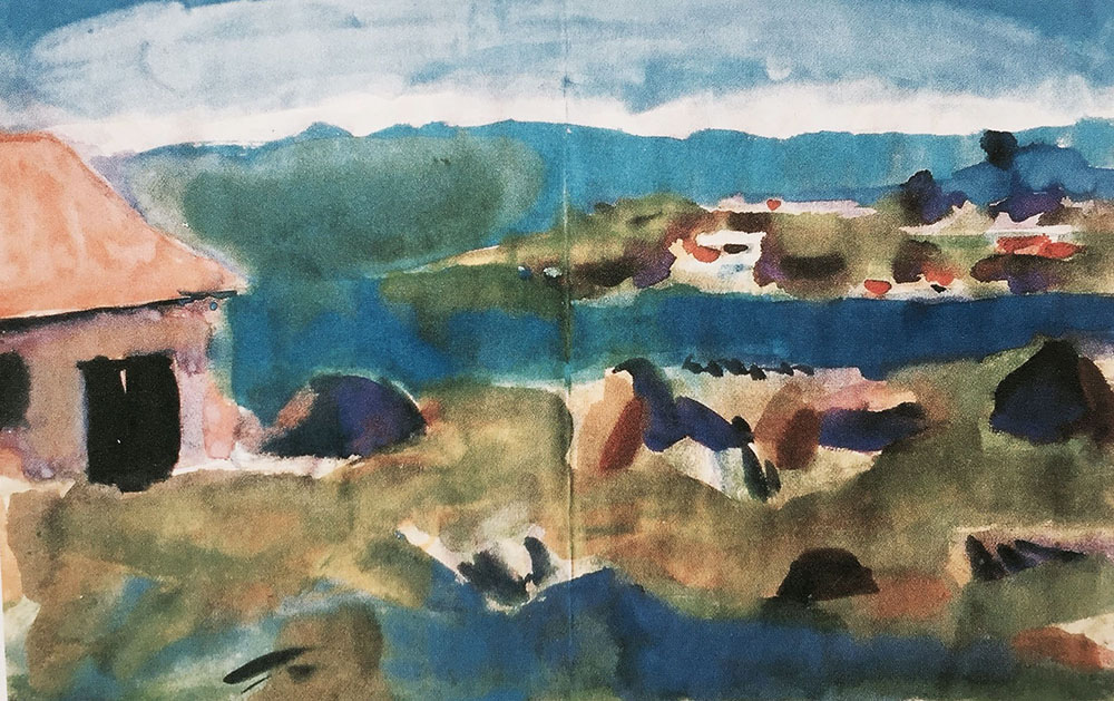 Martinique. 1941. Watercolor.
