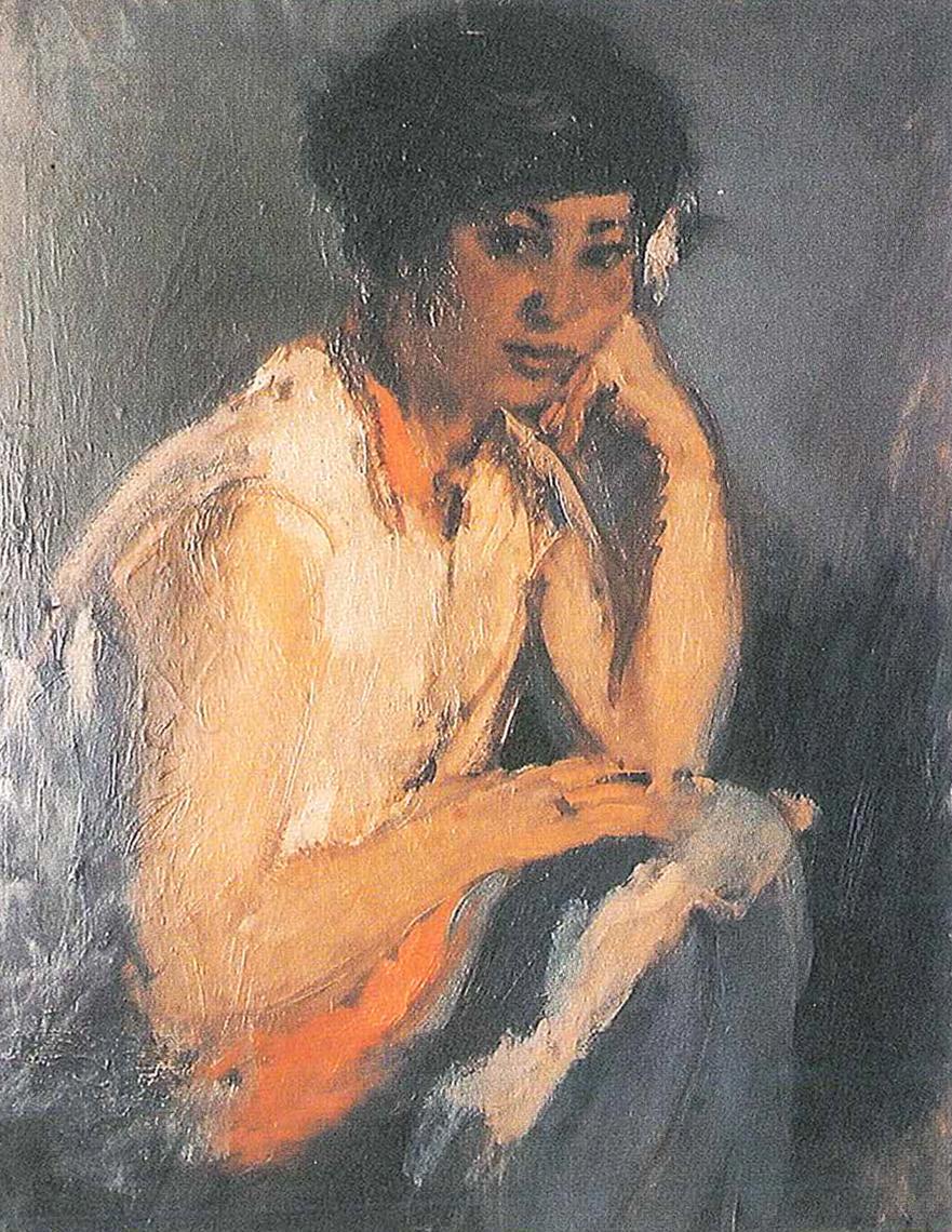 Portrait of Lia. Circa 1930. Oil.