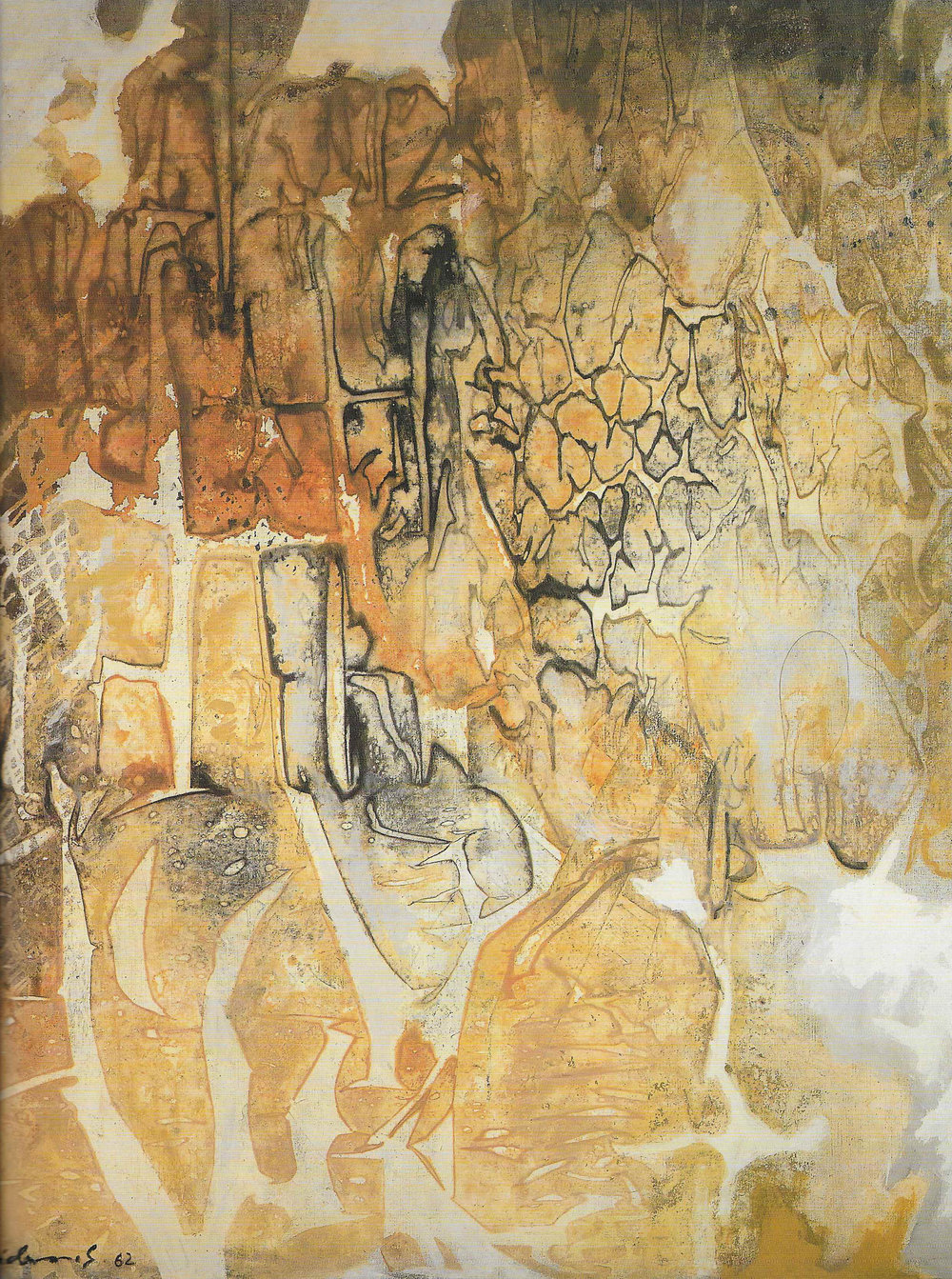 CARL HEIDENREICH, HERALDIK . 1962. OIL. COLLECTION OF EMANUEL L. WOLF
