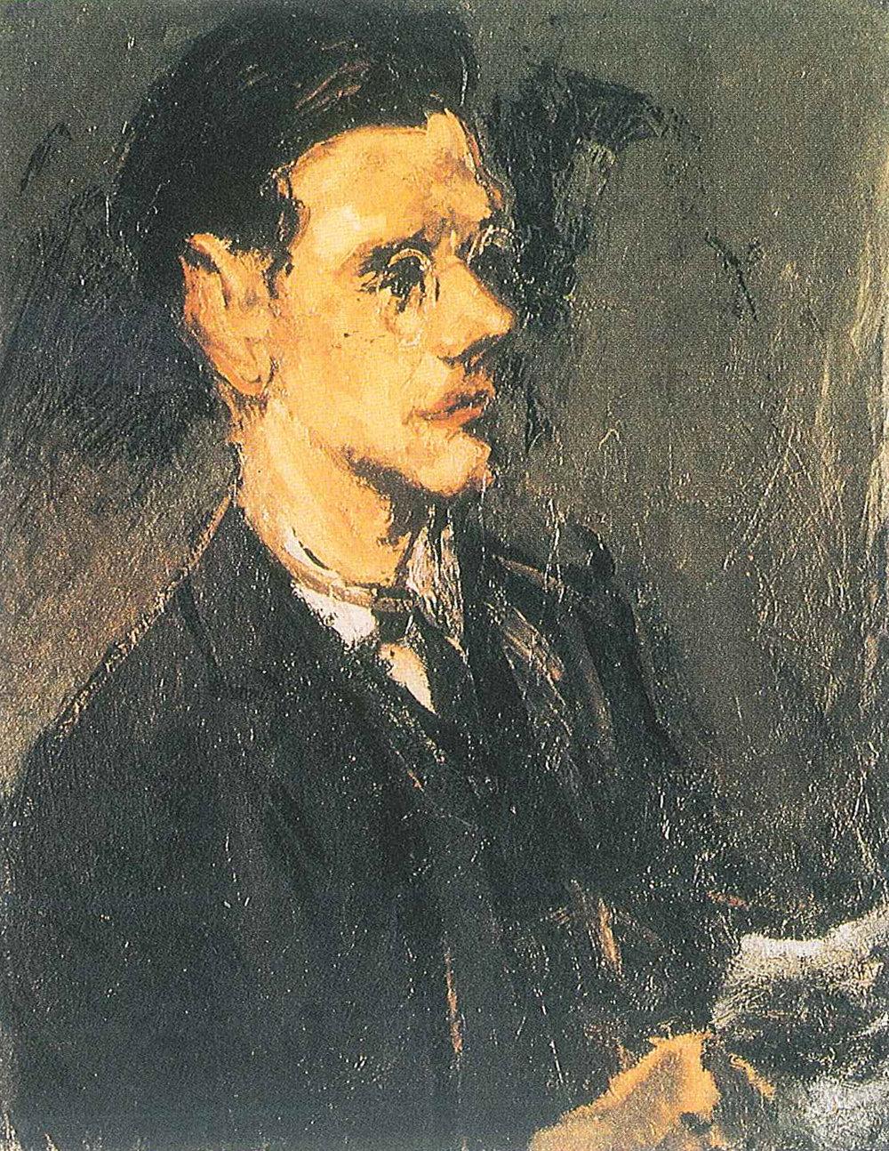 Carl Heidenreich,  Portrait of Günther Brandt , 1927. Oil. Collection of Lothar Brandt.