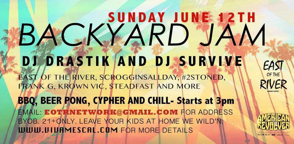 Backyard Jam in Boyle Heights, CA. Hip Hop, BBQ and Beer Pong. Lets get it!