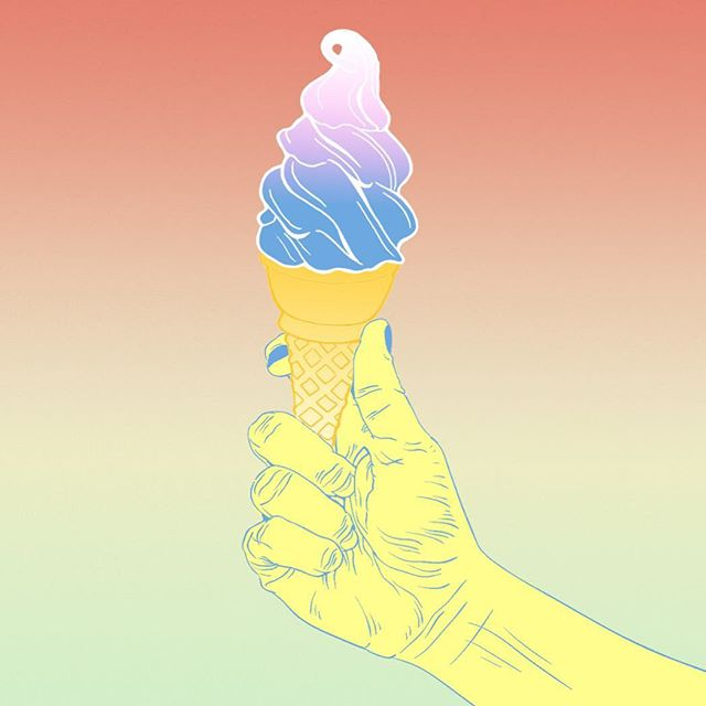 Wishing it was summer again at the studio 🍦Illustration from an unpicked design concept!