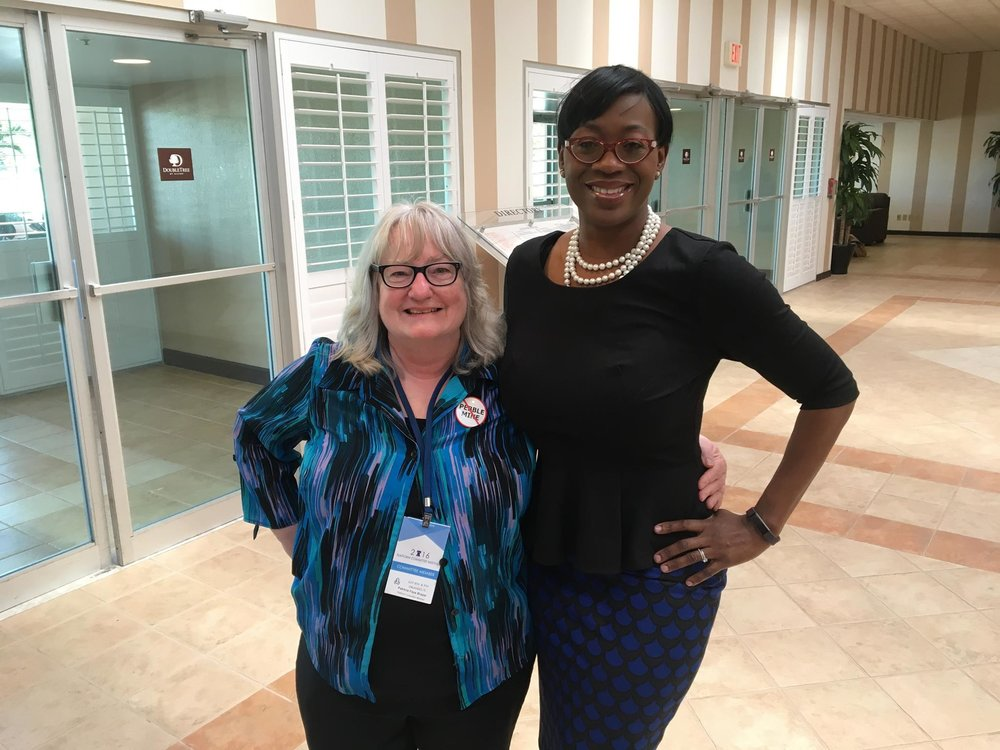 Patricia Faye-Brazel (Left) with Nina Turner (Right)
