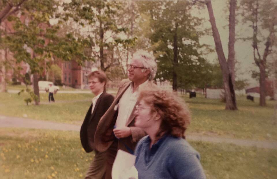 Patricia Faye-Brazel (Front Center) with Bernie Sanders (Center)