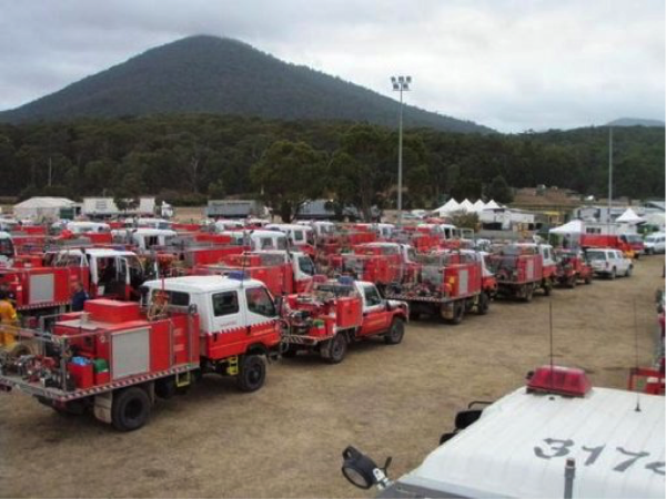 Specialised vehicles and training cost money - Fire-fighters prepare in a forward area - Photo courtesy of Jade Elliott - Scouts Australia.