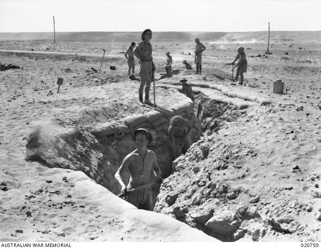 Diggers at Tobruk, 1941 (Image courtesy Australian War Memorial)