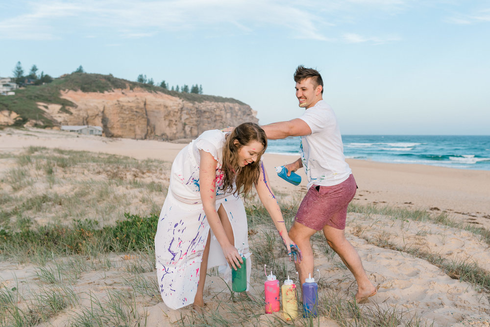 Newcastle Beach Engagement Session