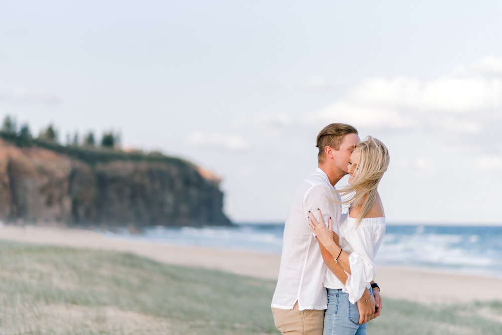Redhead Beach Engagement Photos